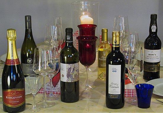 Englantilainen joulu - viinit