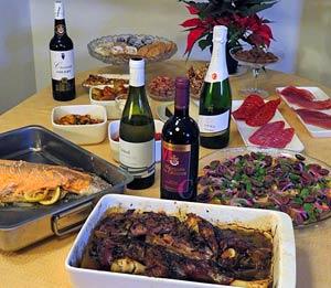 Espanjalainen joulu juhlapöytä