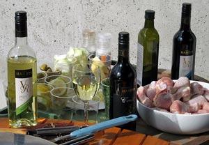 Hardysin viinit ja sitruuna-broileripata