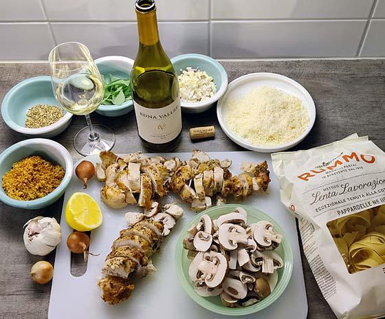 Kana-salviapasta ja Edna Valley Chardonnay