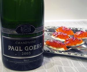 Paul Goerg Premier Cru Champagne Brut 2005 ja mätilusikat