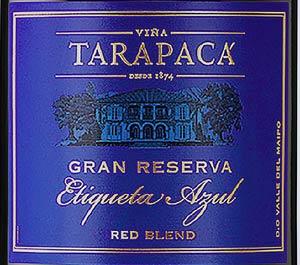 Tarapaca Gran Reserva Etiqueta Azul -etiketti