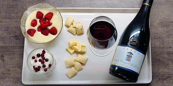 Valkosuklaa ja Pinot Noir