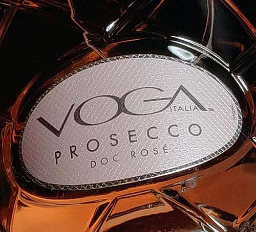 Voga roseeprosecco etiketti