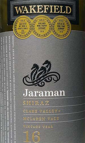 Wakefield Jaraman Shiraz
