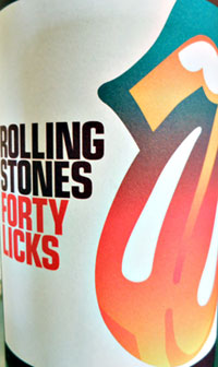 Rolling Stones Forty Licks Merlot