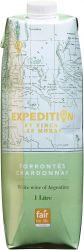 [kuva: Expedition by Finca Las Moras Torrontés Chardonnay 2019 kartonkitölkki]