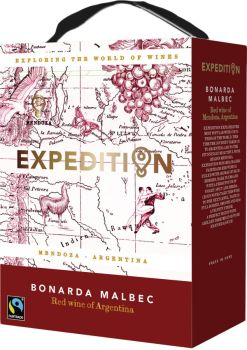 [kuva: Expedition Bonarda Malbec 2020 hanapakkaus(© Alko)]