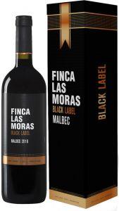 [kuva: Finca Las Moras Black Label Malbec 2016 lahjapakkaus(© Alko)]