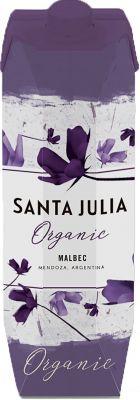 [kuva: Santa Julia Organic Malbec 2020 kartonkitölkki(© Alko)]