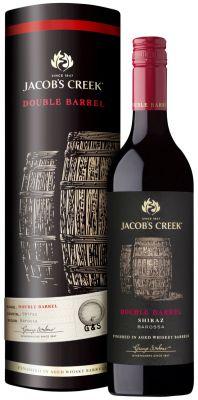 [kuva: Jacob's Creek Double Barrel Shiraz  2015 lahjapakkaus(© Alko)]
