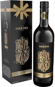[kuva: Hardys Brave New World Shiraz Black Edition 2016 lahjapakkaus(© Alko)]