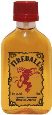 [kuva: Fireball muovipullo(© Alko)]