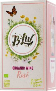 [kuva: B-Liv Organic Wine Rosé 2020 hanapakkaus(© Alko)]