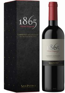 [kuva: 1865 Selected Vineyards Cabernet Sauvignon 2016 lahjapakkaus(© Alko)]