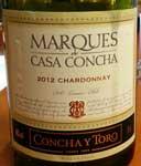 Marques de Casa Concha Chardonnay 2011