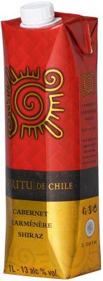 [kuva: Espíritu de Chile Cabernet Carmenere Shiraz kartonkitölkki(© Alko)]