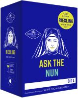 [kuva: Ask the Nun Riesling by Blue Nun  2019 hanapakkaus]