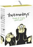 [kuva: Thr3 Monkeys Fresh & Fruity White Wine 2019 hanapakkaus]