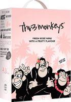 [kuva: Thr3 Monkeys Fresh & Fruity Rosé hanapakkaus]