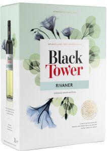 [kuva: Black Tower Rivaner 2017 hanapakkaus(© Alko)]