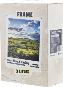 [kuva: Frame Pinot Blanc & Riesling 2020 hanapakkaus(© Alko)]