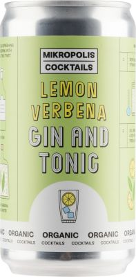 [kuva: Mikropolis Lemon Verbena Gin And Tonic tölkki(© Alko)]