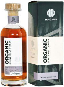[kuva: Mosgaard Organic Peated Bourbon Cask Single Malt(© Alko)]