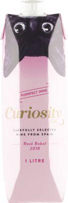 [kuva: Curiosity Rosé Bobal 2018 kartonkitölkki(© Alko)]