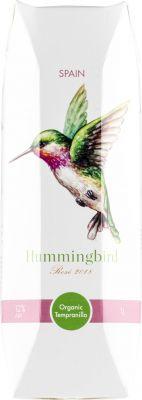 [kuva: Hummingbird Organic Tempranillo Rosé 2020 kartonkitölkki(© Alko)]