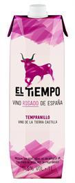 [kuva: El Tiempo Tempranillo Rosado 2014 kartonkitölkki(© Alko)]