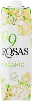 [kuva: 99 Rosas Organic White Wine 2019 kartonkitölkki(© Alko)]