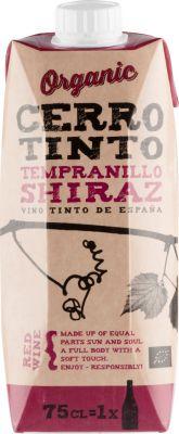 [kuva: Cerro Tinto Organic Tempranillo Shiraz kartonkitölkki(© Alko)]