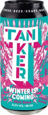 [kuva: Tanker Winter Is Coming Mint Stout tölkki(© Alko)]