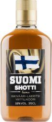 [kuva: Suomi Shotti Inkivääri-Lakritsi muovipullo]