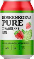 [kuva: Koskenkorva Pure Strawberry Lime tölkki]