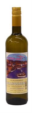 [kuva: Alahovin Hilikunmakkee Valkoinen Viinimarjaviini(© Alko)]