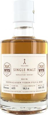 [kuva: Valamo Monastery Whisky Single Cask 603 Single Malt(© Alko)]