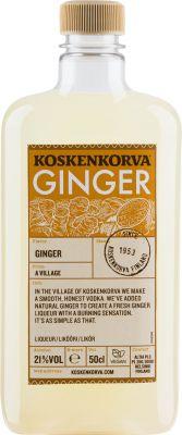 [kuva: Koskenkorva Ginger muovipullo(© Alko)]