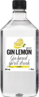 [kuva: Gin Lemon muovipullo(© Alko)]