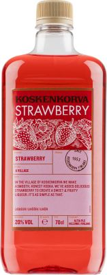 [kuva: Koskenkorva The Original Strawberry muovipullo(© Alko)]
