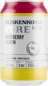 [kuva: Koskenkorva Pure Raspberry Lemon tölkki(© Alko)]