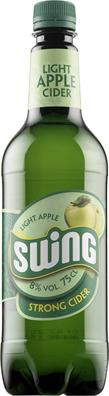 [kuva: Swing Light Apple Strong Cider muovipullo(© Alko)]