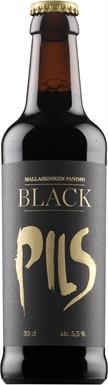 [kuva: Mallaskosken Black Pils(© Alko)]