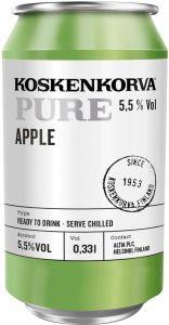 [kuva: Koskenkorva Pure Apple tölkki(© Alko)]