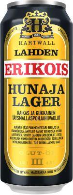 [kuva: Lahden Erikois Hunaja tölkki(© Alko)]
