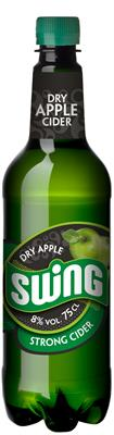 [kuva: Swing Dry Apple Strong Cider muovipullo(© Alko)]