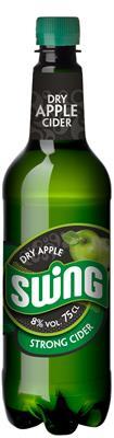 [kuva: Swing Dry Apple Strong Cider muovipullo(© Alko)]