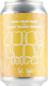 [kuva: CoolHead & Donut Island Juicy Lucy IIIPA tölkki(© Alko)]