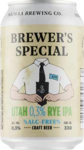 [kuva: Saimaa Brewer's Special Utah 0,3% Rye Ipa tölkki(© Alko)]